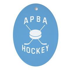 APBA Hockey Ornament (Oval)
