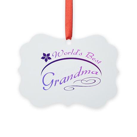 World's Best Grandma (purple) Picture Ornament
