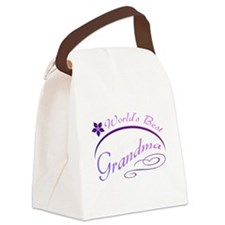 World's Best Grandma (purple) Canvas Lunch Bag