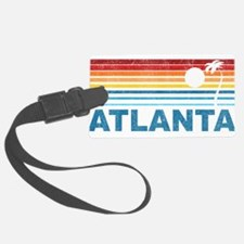 Retro Palm Tree Atlanta Luggage Tag