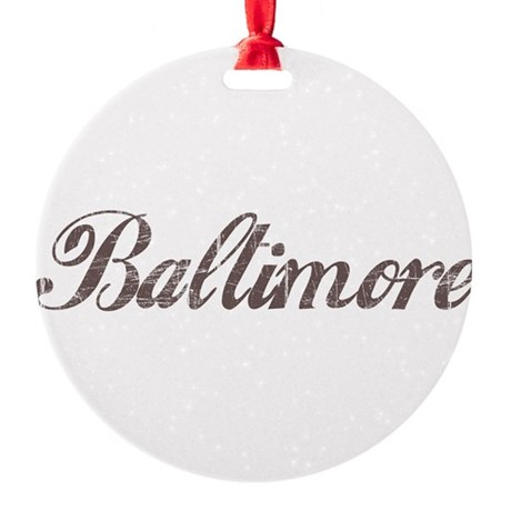 Vintage Baltimore Round Ornament