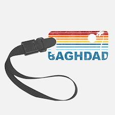 Retro Palm Tree Baghdad Luggage Tag