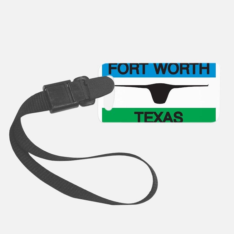 Fort Worth Flag Luggage Tag
