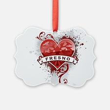 Heart Fresno Ornament