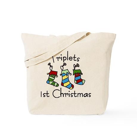 Triplets 1st Christmas Tote Bag