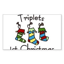 Triplets 1st Christmas Decal