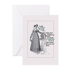 Jane Austen Mulberry Greeting Cards (Pack of 10)