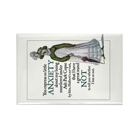 Jane Austen Anxiety Rectangle Magnet