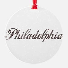 Vintage Philadelphia Ornament