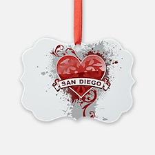 Heart San Diego Ornament
