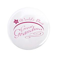 "World's Best Great Grandma (pink) 3.5"" Button"