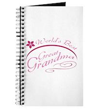 World's Best Great Grandma (pink) Journal
