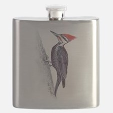 handsome pileated woodpecker Flask