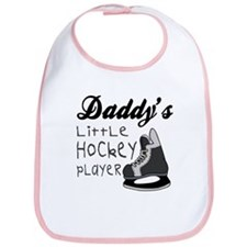 Daddy's Hockey Player Babys Bib