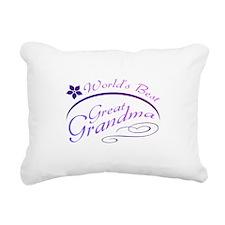 World's Best Great Grandma (purple) Rectangular Ca