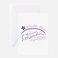 World's Best Great Grandma (purple) Greeting Card