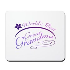 World's Best Great Grandma (purple) Mousepad
