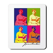 Jane Austen Pop Art Mousepad