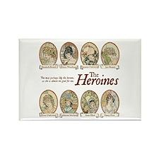Jane Austen Heroines Rectangle Magnet