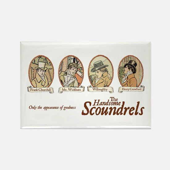 Jane Austen Scoundrels Rectangle Magnet