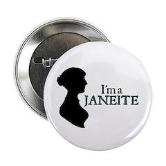 Jane Austen Janeite 3 Button