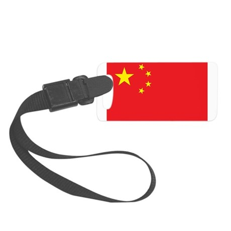China Flag Small Luggage Tag