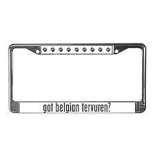Got Belgian Tervuren? License Plate Frame