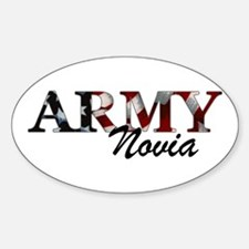 Novia del Army (Bandera) Oval Decal
