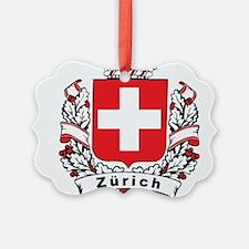 Stylish Zürich Crest Ornament