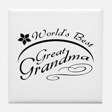 World's Best Great Grandma Tile Coaster