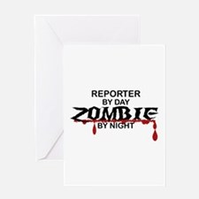 Reporter Zombie Greeting Card