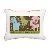 Pit bull Rectangle Canvas Pillows