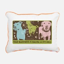 Funny Pit bull rescue central Rectangular Canvas Pillow