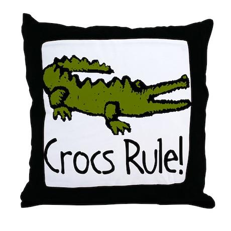 Crocs Rule! Throw Pillow