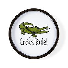 Crocs Rule! Wall Clock