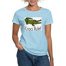 Crocs Rule! Women's Pink T-Shirt