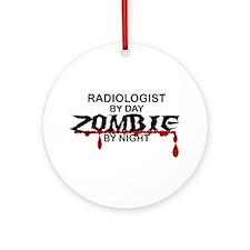 Radiologist Zombie Ornament (Round)