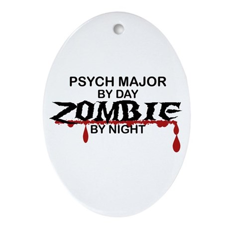 Psych Major Zombie Ornament (Oval)