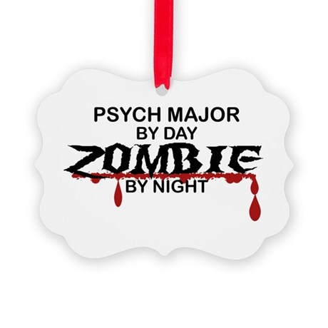 Psych Major Zombie Picture Ornament