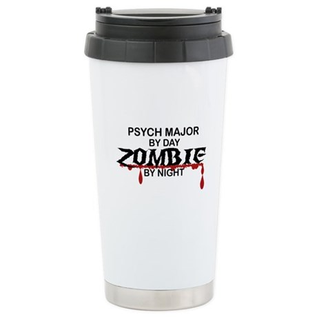 Psych Major Zombie Stainless Steel Travel Mug
