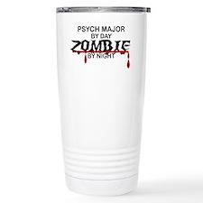 Psych Major Zombie Travel Coffee Mug