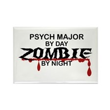 Psych Major Zombie Rectangle Magnet