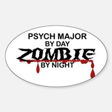 Psych Major Zombie Sticker (Oval)