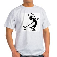 Kokopelli Hockey Player Ash Grey T-Shirt