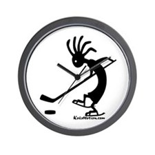 Kokopelli Hockey Player Wall Clock