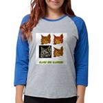 cats-on-catnip.tif Womens Baseball Tee