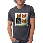 cats-on-catnip.tif Mens Tri-blend T-Shirt