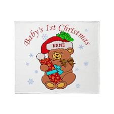 Baby's 1st Christmas Throw Blanket