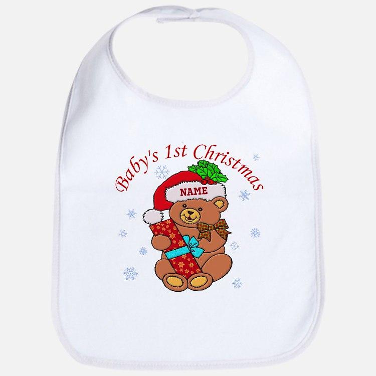 Baby's 1st Christmas Bib