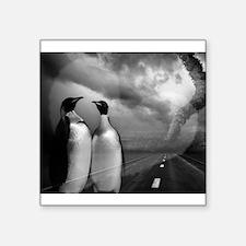 """Penguin Love Square Sticker 3"""" x 3"""""""